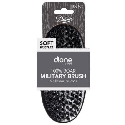 Diane - 100% Soft boar Military brush 9 row 5