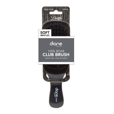 Diane - 100% Soft boar Club brush 9 row 7