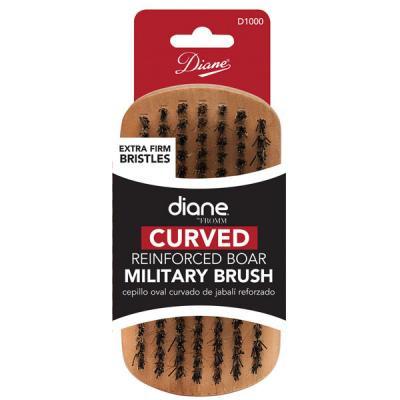 Diane - Brosse courbée Military 100% Extra-forte sanglier 9 rangées 5