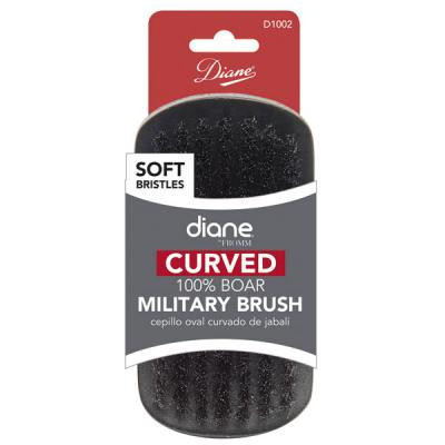 Diane - Curved 100% Soft boar Military brush 9 row 5
