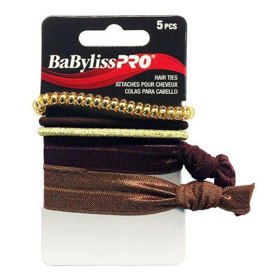 Babyliss Pro - Attaches pour cheveux brunes & or 5/paquet